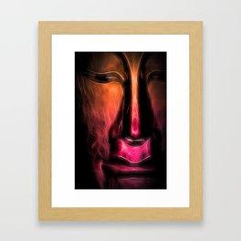 BuddhaFace orange Framed Art Print