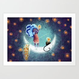 Touch a star catch the stars Art Print