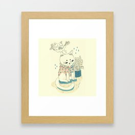 kitty with a shirt Framed Art Print