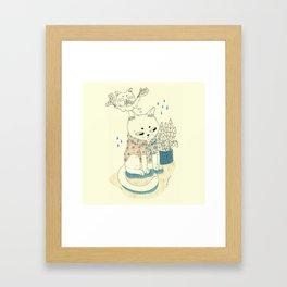 kitty with a shirt Framed Art Print