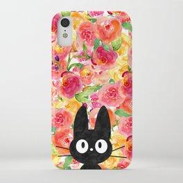 Jiji in Bloom iPhone Case