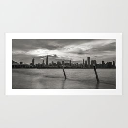 Smoothing out the Lake Art Print