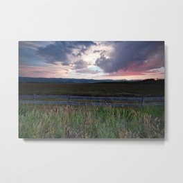 Sunset in Star Valley Metal Print