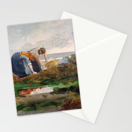 Winslow Homer1 - The Mussel Gatherers - Digital Remastered Edition Stationery Cards