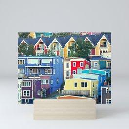 Newfoundland Row Houses Mini Art Print