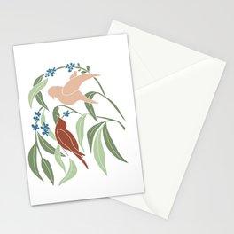 Love birds #1 Stationery Cards