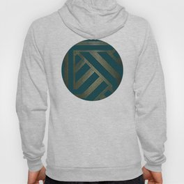 Art Deco Blurred Lines In Teal Hoody