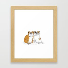 two bullies  Framed Art Print