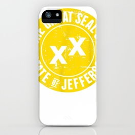 Distressed Golden Seal   State Jefferson T-Shirt iPhone Case