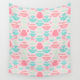 Pink and Turquoise Everything Wall Tapestry