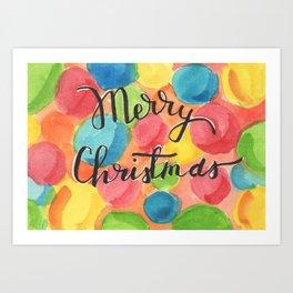 A Cheery, Merry Christmas! Art Print