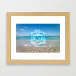 Sacred Geometry Seaview Framed Art Print