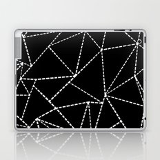 Abstract Dotted Lines White on Black Laptop & iPad Skin