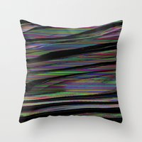 glitch Throw Pillows featuring Glitch by DDANIELL