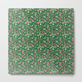 Batik Kebaya Green SQ Metal Print
