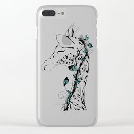Poetic Giraffe Clear iPhone Case