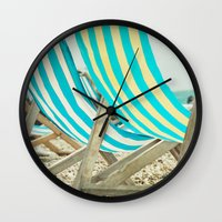depeche mode Wall Clocks featuring Vacation Mode by The Last Sparrow