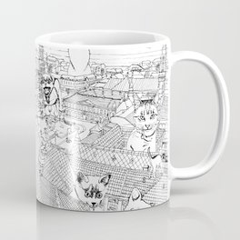 Giant cats and dogs take over the city Coffee Mug
