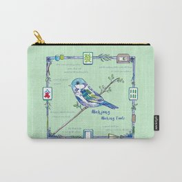 Sparrow Mahjong Carry-All Pouch