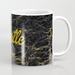 Gold Hustle Black Marble Coffee Mug