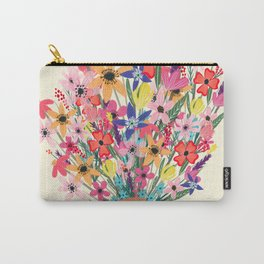 Foral Bouquet Carry-All Pouch
