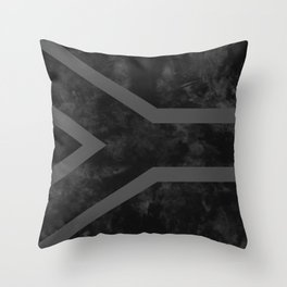 Black South Africa Flag Throw Pillow