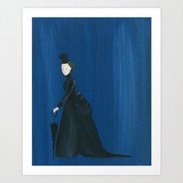 Victorian Umbrella Lady - Original Acrylic on Canvas Art Art Print