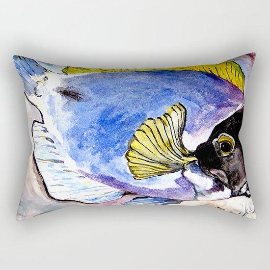 fish with yellow fin Rectangular Pillow