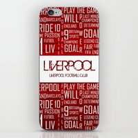 liverpool iPhone & iPod Skins featuring Liverpool Mix by Sport_Designs