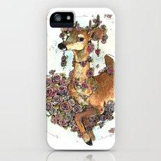 Deer in Flowers Slim Case iPhone SE