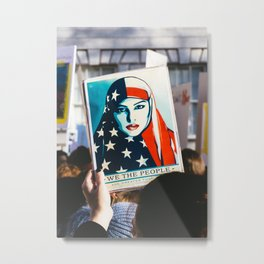 We the People - Women's March London Metal Print