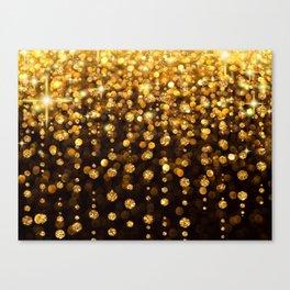 Golden Glitter Canvas Print