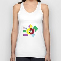 nfl Tank Tops featuring NFL Abstract by Franky Fleece