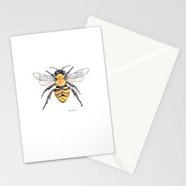 Watercolor Bee Stationery Cards