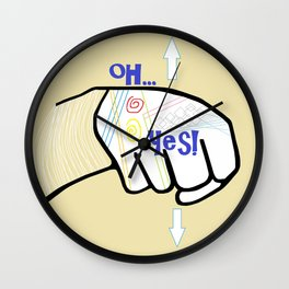 ASL Oh YES! Wall Clock