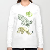 platypus Long Sleeve T-shirts featuring Platypus by Mayra Boyle