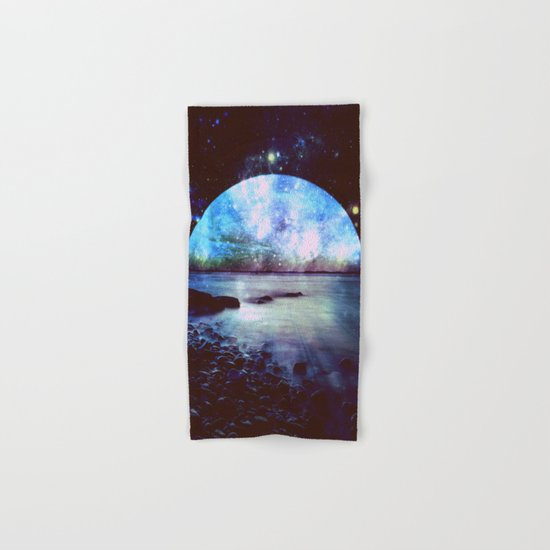 Mystic Lake Dark & Colorful Hand & Bath Towel
