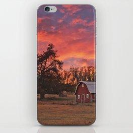 Barn Sunset iPhone Skin