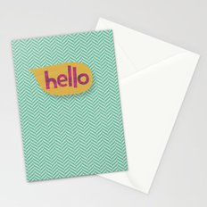 Hello in Yellow Stationery Cards