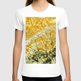 GOLDEN LACE FLOWERS FROM SOCIETY6 BY SHARLESART. T-shirt