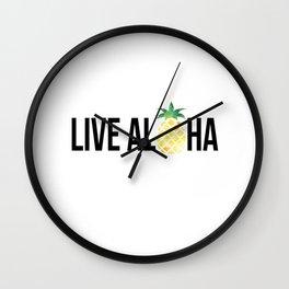Live Aloha - Pineapple Wall Clock