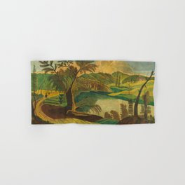 Stylized Landscape Hand & Bath Towel