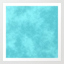Blueberry Cotton Candy Art Print