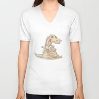 dragon V-neck T-shirts featuring Dragon  by gunberk