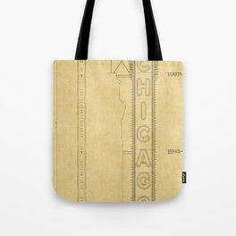 Chicago Theatre Blueprint Tote Bag