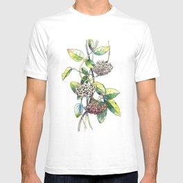 Light white-pink flower - HOYA T-shirt