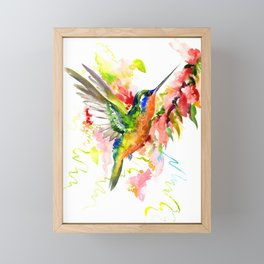 Tropical Hummingbird Framed Mini Art Print