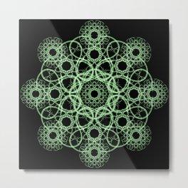 Celtic Disk Mandala Metal Print