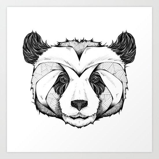 Panda Art Print