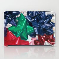 bows iPad Cases featuring Christmas Bows by Jessica Gawinski